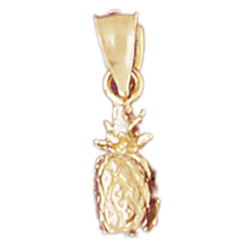 14k Yellow Gold 3-D Pineapple Charm
