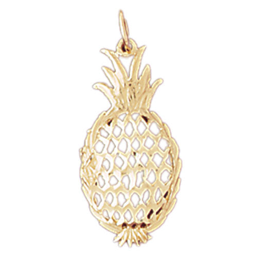 14k Yellow Gold Pineapple Charm