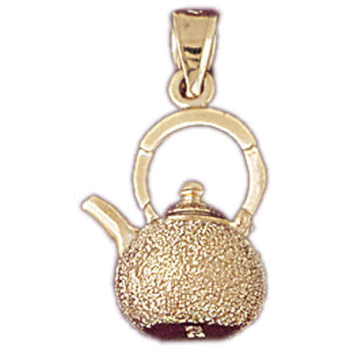 14k Yellow Gold Tea Pot Charm