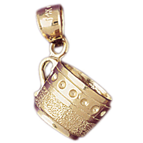 14k Yellow Gold 3-D Cup Charm