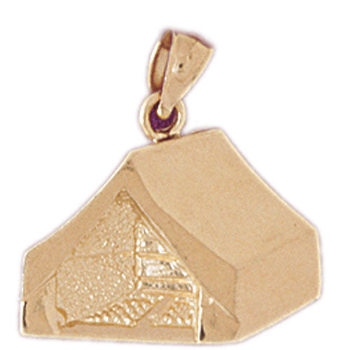 14k Yellow Gold Tent/Cabin Charm