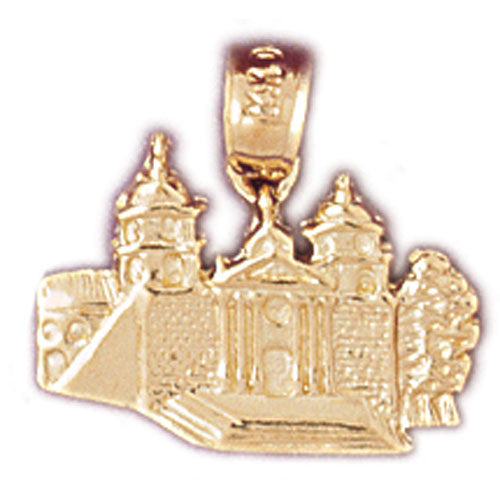 14k Yellow Gold Mansion Charm