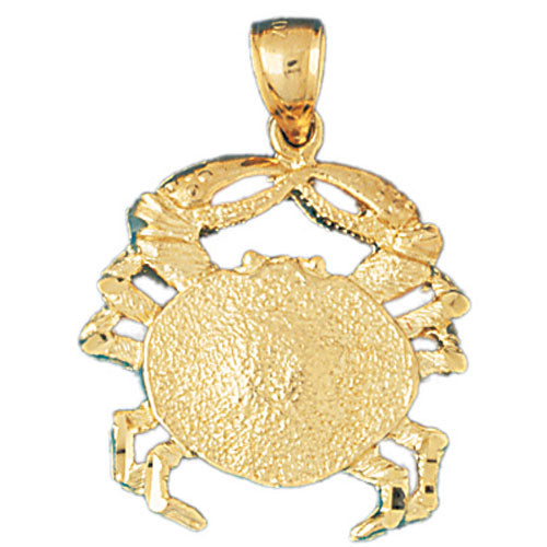 14k Yellow Gold Crabs Charm