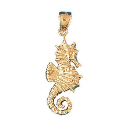 14k Yellow Gold Seahorse Charm