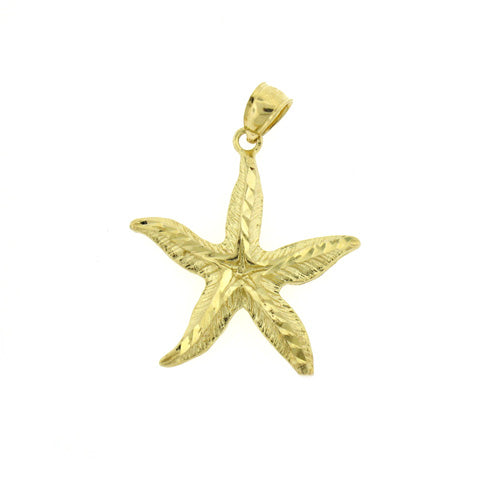 14k Yellow Gold Starfish Charm
