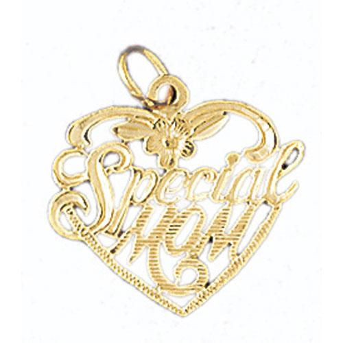 14k Yellow Gold Special Mom Charm