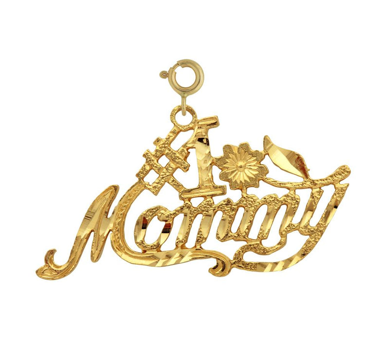 14k Yellow Gold #1 Mommy Charm