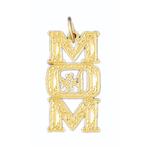 14k Yellow Gold #1 Mom Charm