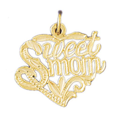 14k Yellow Gold Sweet Mom Charm