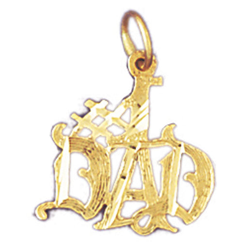 14k Yellow Gold #1 Dad  Charm