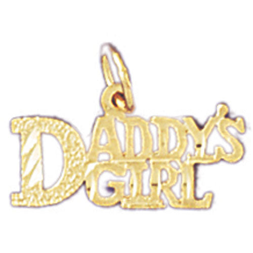 14k Yellow Gold Daddy's Girl Charm