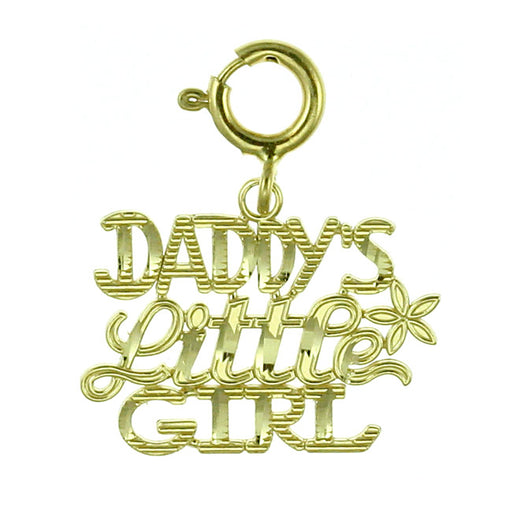 14k Yellow Gold Daddy's Little Girl Charm