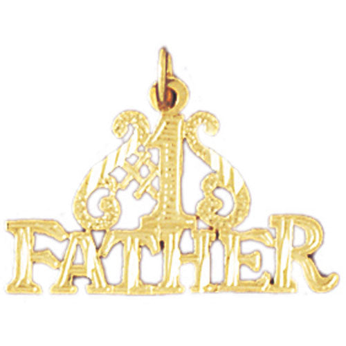 14k Yellow Gold #1 Father Charm