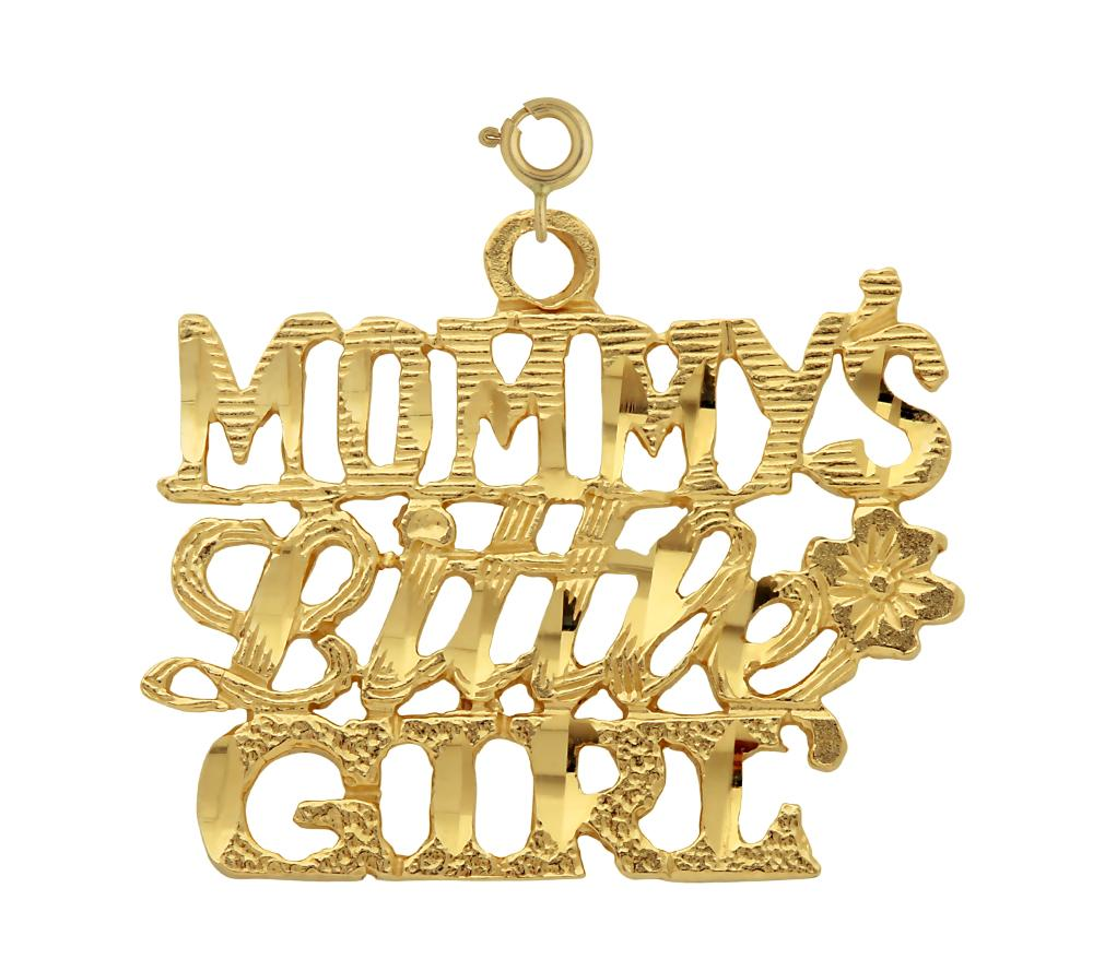 14k Yellow Gold Mommy's Little Girl Charm