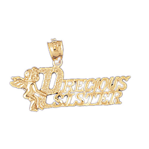 14k Yellow Gold Precious Sister Charm