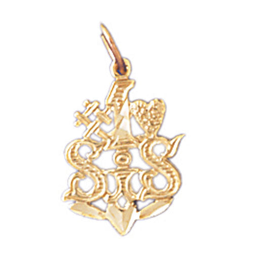 14k Yellow Gold #1 Sis Charm