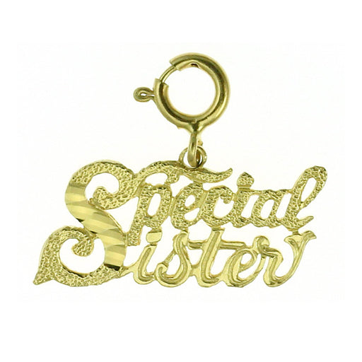 14k Yellow Gold Special Sister Charm