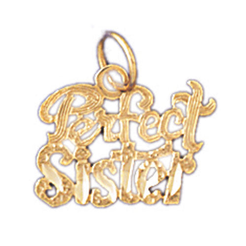 14k Yellow Gold Perfect Sister Charm