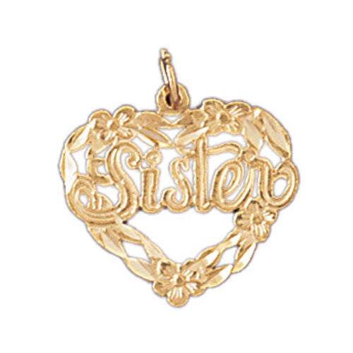 14k Yellow Gold Sister Charm