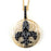 Sterling Silver Black Rhodium Plated and CZ Fleur De Lis Necklace