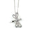 Sterling Silver Rhodium Plated and CZ Dragonfly Necklace