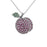 Sterling Silver Rhodium Plated and CZ Cherry Necklace