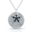 Sterling Silver Rhodium Plated and Black CZ Necklace
