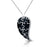 Sterling Silver Rhodium Plated with Black Enameled Puzzle Necklace