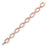 Sterling Silver Rose Gold Plated and CZ Link Bracelet