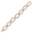 Sterling Silver Rose Gold Plated Link Bracelet with safety clasp