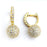 Sterling Silver Rhodium Plated and CZ Ball Earrings