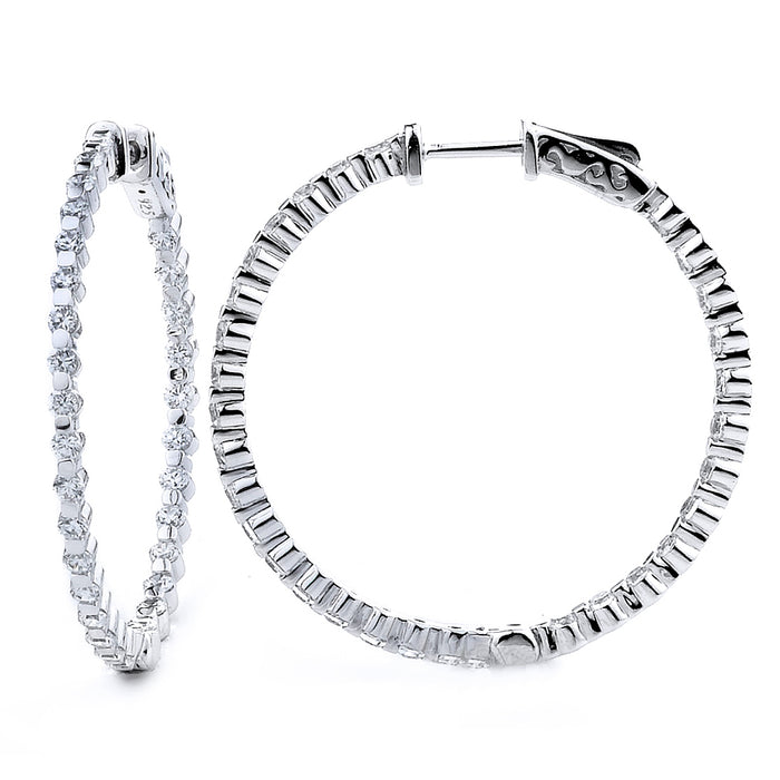 Sterling Silver Gold Plated and CZ Hoop Earrings