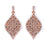 Sterling Silver Rhodium Plated and CZ Leaf Earrings