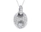 Sterling Silver Rhodium Plated and micro-pave CZ Link pendant