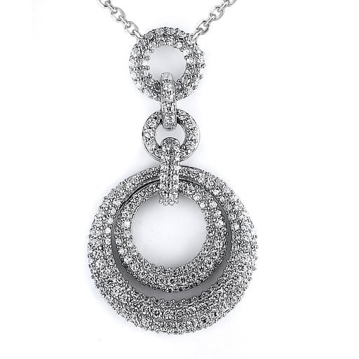 Sterling Silver Rhodium Plated and micro-pave CZ Pendant