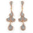 Sterling Silver Rose Gold Plated and CZ Dangle Earrings
