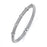 Sterling Silver Rhodium Plated and 5 stations of CZ Bangle