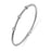 Sterling Silver Rhodium Plated and 3 stations of CZ Bangle