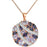 Sterling Silver Rose Gold Plated with Multi-Color CZ Necklace