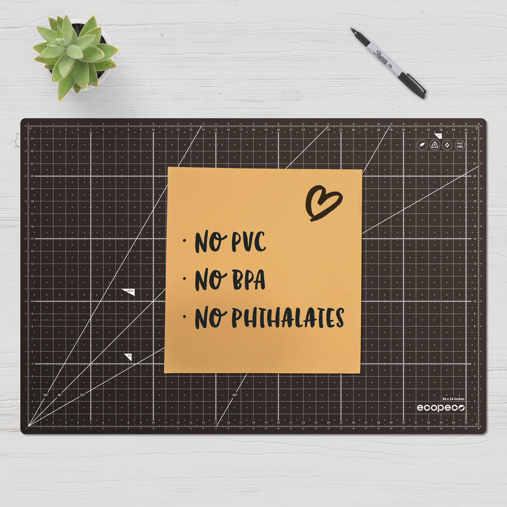 ecopeco cutting mat without any PVC, PBA add phthalates
