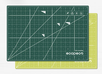 ecopeco® Jade Green Self-Healing, Reversible Eco Cutting Mat