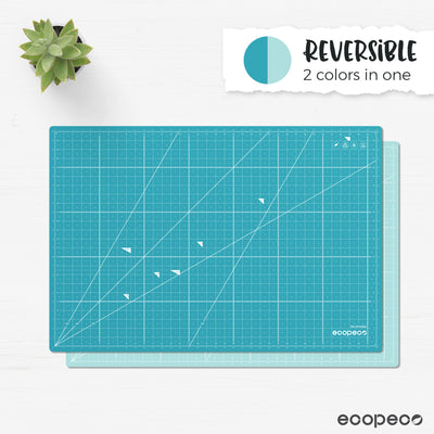 ecopeco® Quetzal Blue Self-Healing, Reversible Eco Cutting Mat