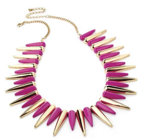 3.Fuchsia spike necklaces