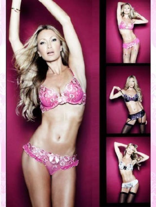 Dianthus Bra & Brief Set Hot Pink