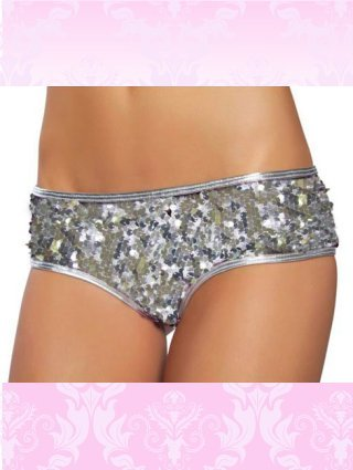 Sequin short White