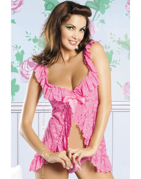 Beauty Floral Lace Babydoll