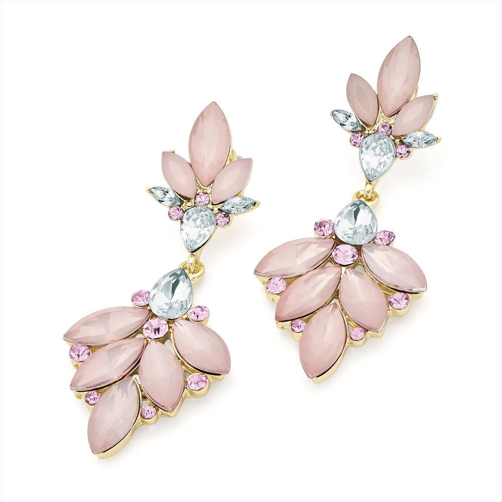 Gold & Pink Frosted Earring
