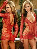 Fishnet With Side Tie Babydoll