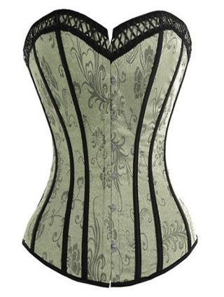 Hot Brocade Lace Up Corset