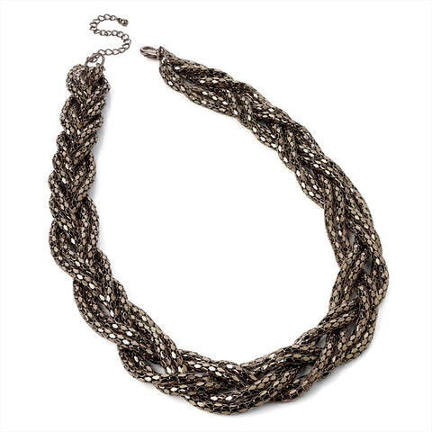 Brown Plat Necklace